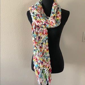 NY & Company multi color knit scarf